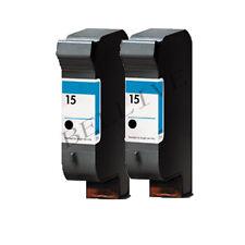 2 CARTUCCE RIGENERATO PER HP 15 C6615DE DeskJet 840C 810C 845C  940C  843C
