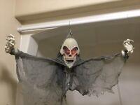 Gemmy Halloween - Floating Hanging Grim Reaper Eyes Light Up Sound Motion Sensor