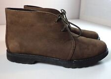 Rockport Ankle Boots Brown Nubuck Leather Womens Size 6 M Lace Up Shoes