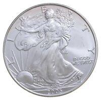 Better Date 2005 American Silver Eagle 1 Troy Oz .999 Fine Silver BU Unc