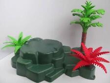 Playmobil Zoo/African wildlife/Jungle/Dino scenery: Green base, tree & ferns NEW