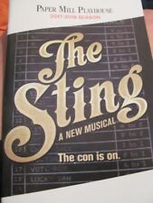 THE STING Playbill HARRY CONNICK JR Musical PREMIERE Paper Mill BROADWAY