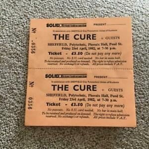 The Cure Unused  ticket Sheffield Polytechnic 23/04/82 #0356