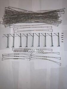 HUGE 87pc Marklin H0 Catenary Lot Mast Insulator Wire 7006/7009/7014/7023/7018