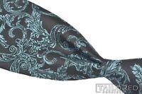"NWT - VERSACE COLLECTION Nero Azzurro Blue Paisley 100% Silk Luxury Tie - 3.125"""