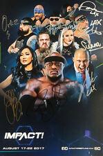 """Officiel murailleampquot/TNA Impact Wrestling autographié 11x17"""" août TV 2017 Poster"""