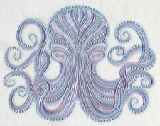 OCTOPUS ELEGANCE SET OF 2 BATH HAND TOWELS EMBROIDERED BY LAURA