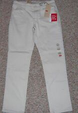 "LEVI'S Beige Denim Mid-Rise Skinny Cropped Ankle Jeans Inseam 28"" 10P 10 Petite"