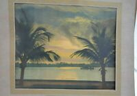 Vintage Days of the Year A Tropical Sunset #6510 Promotional 1930 Calendar