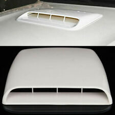 White Universal Car Air Flow Intake Hood Decorative Scoop Vent Bonnet Cover