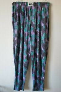 Vintage California Crazee Wear Pants Workout Weight Lift Muscle Parachute M