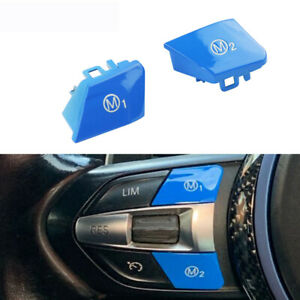 Car Steering Wheel M1 M2 Switch Button for BMW M3 F80 M4 F82 F83 F10 Cover Cap