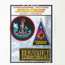 STAR WARS Titles, Crew & ILM Iron-On Patch Super Set #001 - FREE POSTAGE!