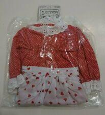 "Vintage Mrs Santa Claus Doll Outfit Dress Apron Fits Music Box 13"" Fibre Craft"