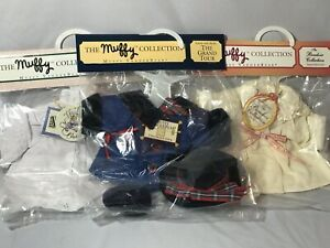 Lot of 3 Muffy Vanderbear Wear Outfits 1990 NIP