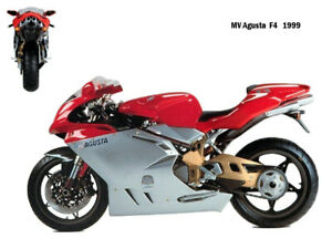 Motorcycle Canvas Picture MV Agusta F4 1999 Canvas 16x12 inch