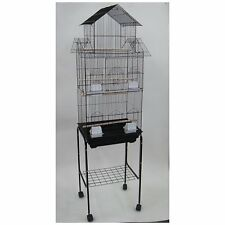 New Large Tall Canary Parakeet Cockatiel Lovebird Finch Bird Cage Black With 369