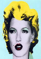 Graffiti   -   Kate Moss    -    Banksy A3 Art Poster Print