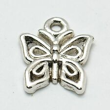 24g (Approx 30pcs) Tibetan Silver Colour Butterfly Charm