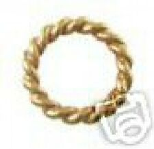 FH10G5 - 24k Gold Vermeil 10mm Twisted Closed Rings - 5