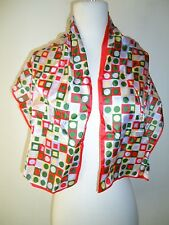 Glentex scarf neck wrap red gree yellow pink polk a dot square checker domino