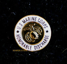 US MARINES HONORABLE DISCHARGE LAPEL VEST HAT PIN OFFICER ENLISTED WO VET GIFT