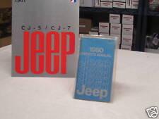 1980 Jeep CJ owner's manual, CJ NOS,1980 CJ NOS manual