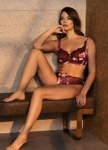 FANTASIE Rosemarie Rouge Underwire Side Support Nonpadded Bra Floral 32G #6942 $