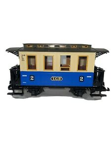 LGB 3012 G Scale 2nd Class Passenger Car Blue/Beige Germany No Box