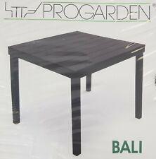 Tisch Gartentisch Holzoptik Kunststoff Anthrazit IPAE PROGARDEN Bali 78x78cm Neu