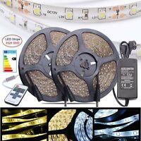 1-10m LED Stripe Streifen 3528 Leiste Lichterkette RF Fernbedienung Netzteil