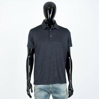 LORO PIANA 1050$ Slimfit Polo Shirt In Virgin Wool Blue Rouvet Jersey