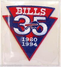 BUFFALO BILLS ~ 35th ANNIVERSARY NFL PATCH / STAT CARD Willabee & Ward WORN 1994