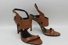 GIANMARCO LORENZI Ladies Leather Brown Slip On Sandal Shoes UK3.5 EU36 NEW