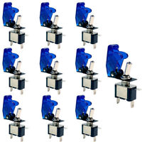 10 X 12V 20A 20Amp Blue Cover LED Light Toggle Switch SPST ON/OFF Car Auto Boat