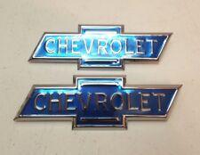 Chevrolet Chevy Truck 1/2 to 1-1/2 Ton Hood Bonnet Side Emblem Set 1936-1938