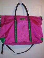 Izod Pink Green Shopper Tote Handbag