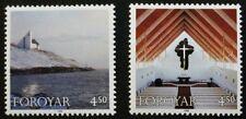 Christmas stamps, 1998, Frederik's church, Faroe Islands, SG ref: 349 & 350, MNH
