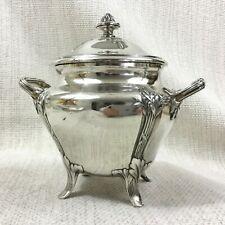 Antique Christofle Silver Plated Sugar Bowl Jar Pot Gallia Original Art Nouveau