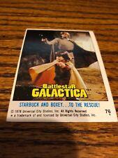 1978 Battlestar galactica card # 76 universal city studios Starbuck & boxey