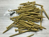 "1 LB 66 PC Tan 10 x 3"" Exterior Wood Screws T25 Star Bit Included"