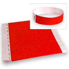 "3/4"" Tyvek Wristbands Neon Red-500 Count Wristco"