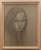 Original Irish Art Pastel Drawing Picture Young Woman Female Portrait P McKeown