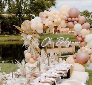 Blush Rose Gold Balloon Arch Garland Wedding Baby Shower Birthday Party Decor