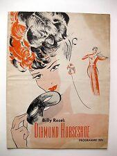 1940s Billy Rose's Diamond Horseshoe Theater Program