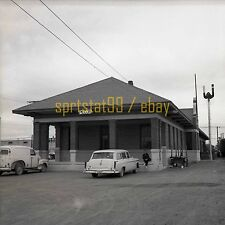T&P Texas and Pacific Railroad Depot - Pecos, Texas - c1950s - Vintage Negative