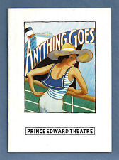 "Elaine Paige ""ANYTHING GOES"" Howard McGillin / Cole Porter 1989 London Playbill"