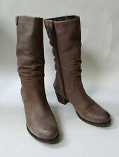 Blondo Boots Shoes Brown Side Zipper Leather Vamp Womens Size 11 M