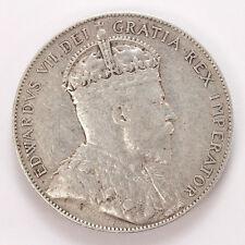 1908 Canada New Foundland Silver 50 Cents Edward VII KM11 - VF #01307870g