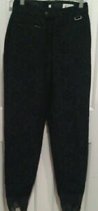 "Schoeller ""Nils"" Women's Black Floral Ski Pants - Sz: 8 Long - EUC"